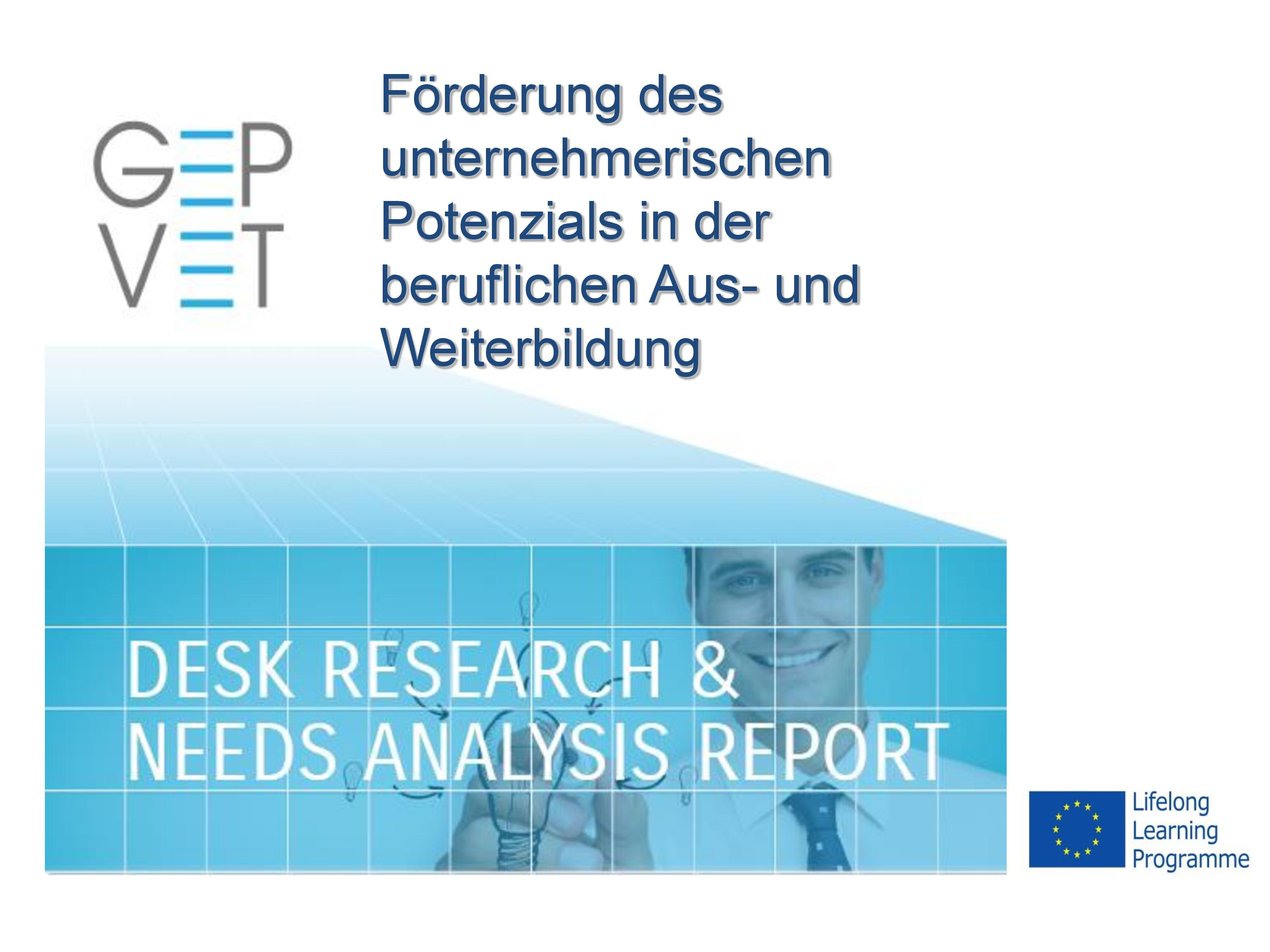 Desk Research & Needs Analysis Report